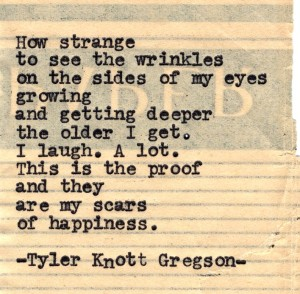 blog wrinkles scars happiness