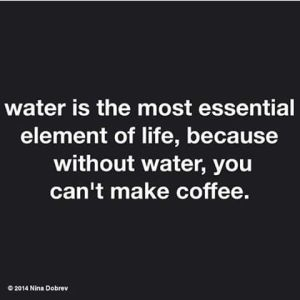 water for coffee