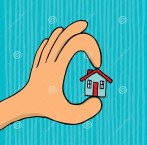 hand-holding-tiny-house-cartoon-illustration-securing-30676278