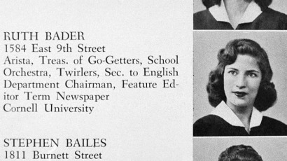 Ruth-Bader-Ginsburg-yearbook-photo