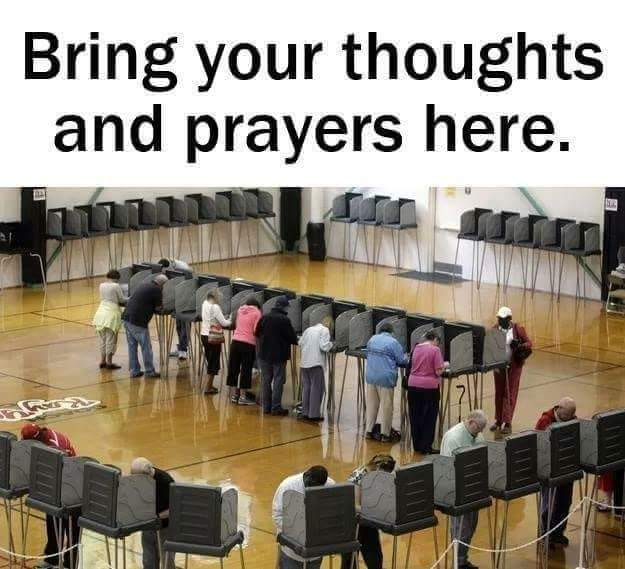 thoughts and prayers here