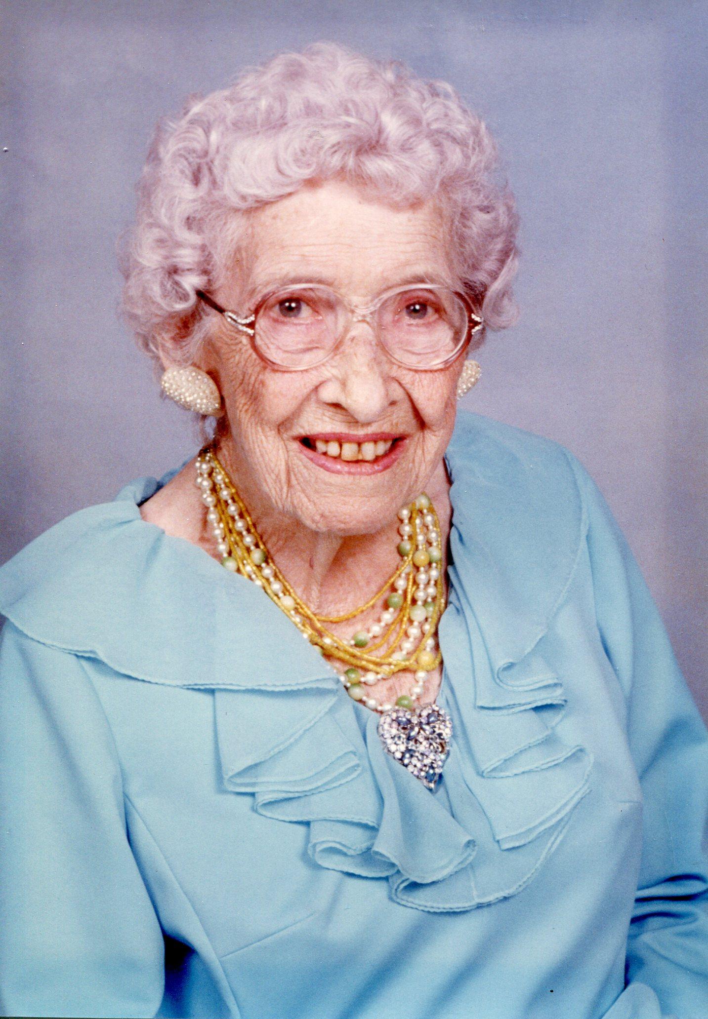 Sarah Lindberg at 90, 1982