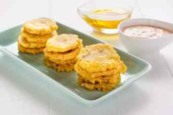 Tostones were served as an appetizer..