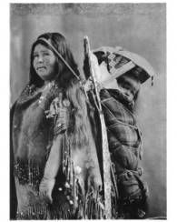 Washoe woman with cradle board