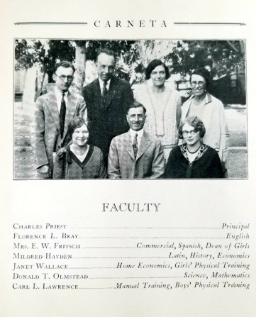 CHS faculty 1930